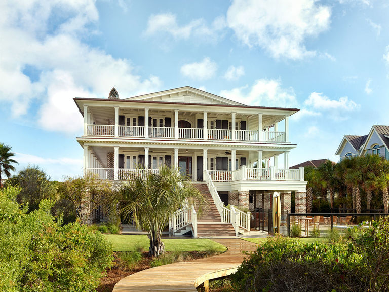 Modern Southern Antebellum Oceanfront Mansion Charleston SC Isle of Palms Herlong Architects