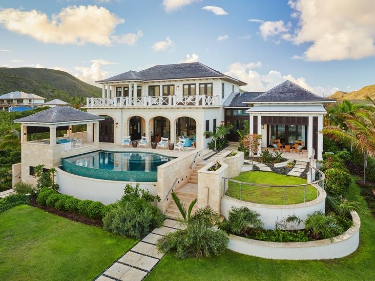 st kitts christophe harbour sandy bank bay villa 8 mariners call luxury caribbean infinity infiniti edge pool tropical island style herlong architect saint kitts architecture firm