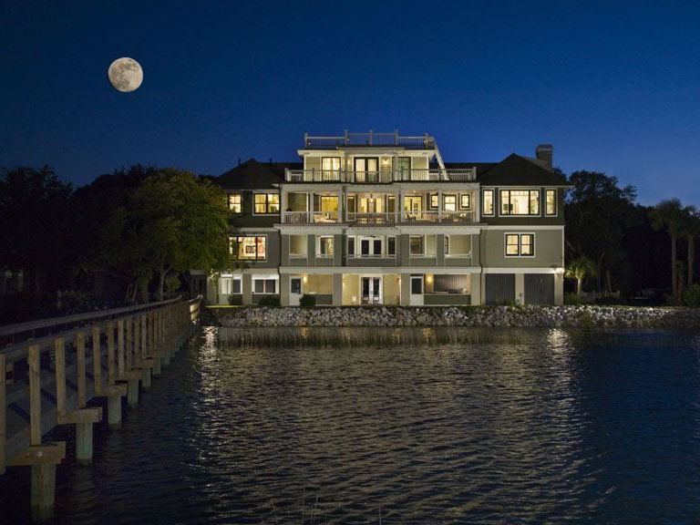 sullivans island architecture on marsh south carolina home dock herlong architects