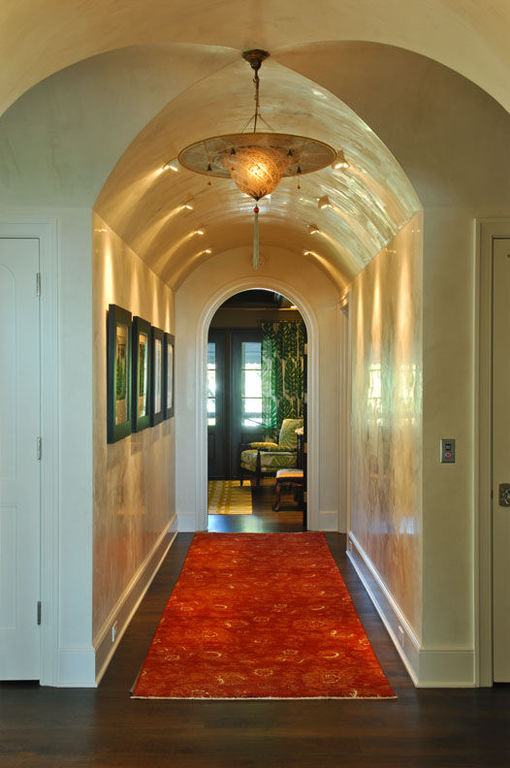 Arched ceiling hallway