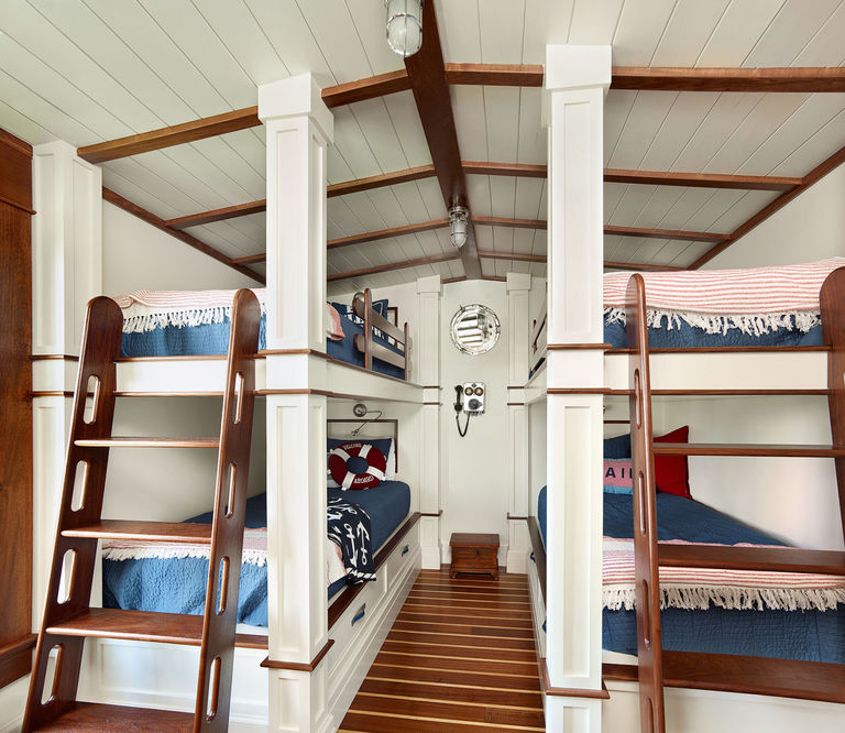 Nautical themed bunk room