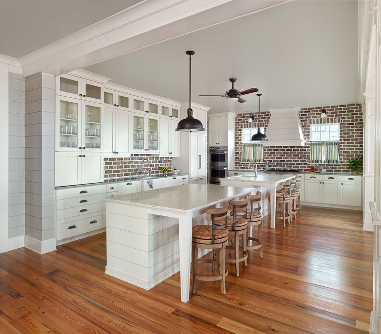Open kitchen design with double islands