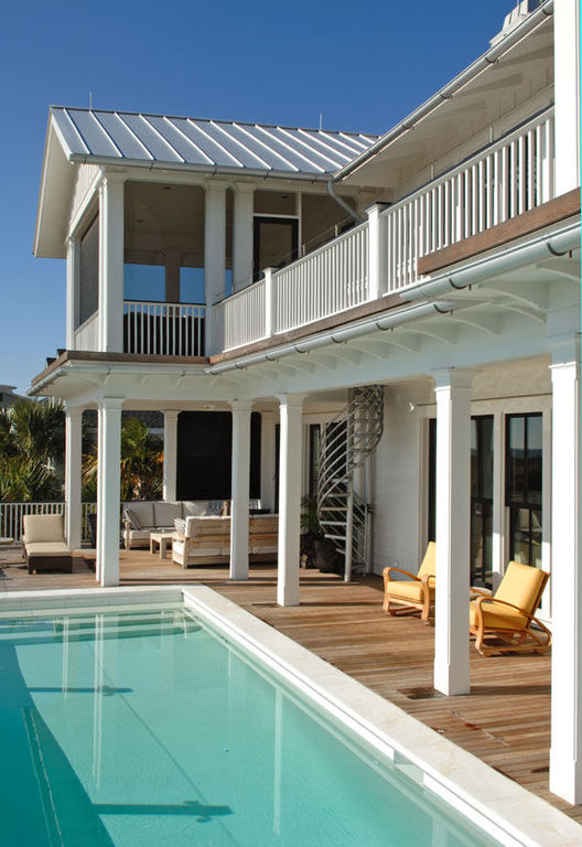 Pool deck and sitting area sullivans island oceanfront contemporary herlong
