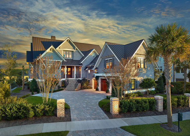 Shingle style home with guest suite and 3-car garage daniel island architect