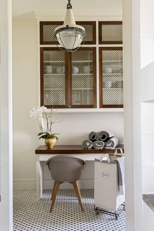 chic laundry room and mud room, herlong and associates