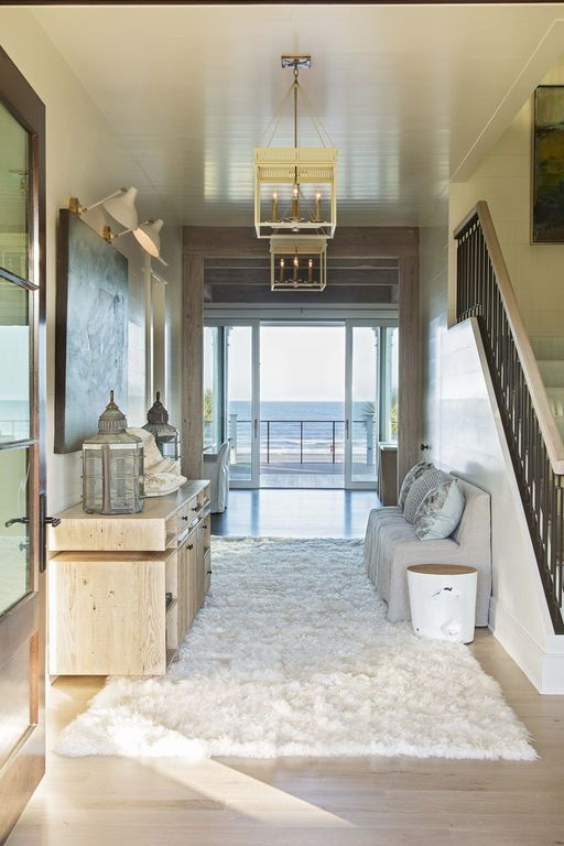 herlong architects herlong and associates beach house entrance hall view of ocean entry foyer shag rug